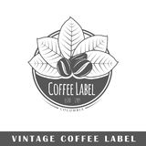 Calibre de label de café Photographie stock