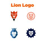 Calibre de LionLogo Photo libre de droits