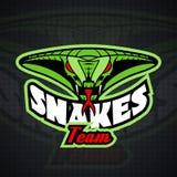 Calibre de logo avec la tête de serpent illustration de vecteur