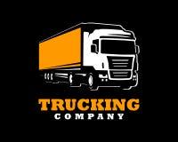 Calibre de logo de camion Un logo de camion sur le fond foncé illustration stock