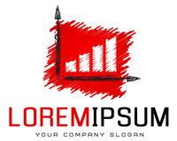 Calibre de logo, comptabilité, opérations bancaires, succès, art des affaires illustration de vecteur