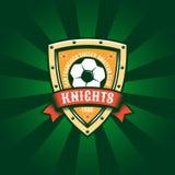 Calibre de logo de couleur du football illustration libre de droits