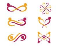 Calibre de logo d'adoption et de soins de santé communautaires Photographie stock