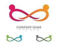 Calibre de logo d'adoption et de soins de santé communautaires Photo libre de droits