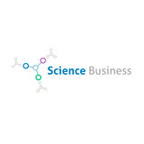 Calibre de logo d'affaires de science chimique Photographie stock