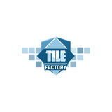 Calibre de logo d'usine de tuile Photo stock