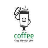 Calibre de logo de café Image libre de droits