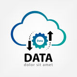 Calibre de logo de données de nuage créatif photographie stock