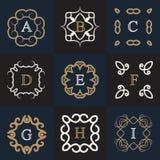 Calibre de logo de monogramme Images libres de droits