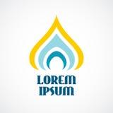 Calibre de logo de religion Dôme stylisé ou bougie d'église orthodoxe illustration de vecteur