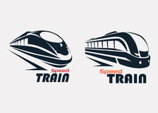 Calibre de logo de train de vitesse Images libres de droits