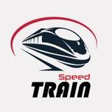 Calibre de logo de train de vitesse Image libre de droits