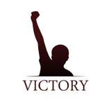 Calibre de logo de victoire Photo stock