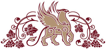 Calibre de logo pour la boutique d'établissement vinicole ou de vin ou l'élément de label de vin Image libre de droits