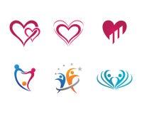 Calibre de logo de soins de santé communautaires Photos stock