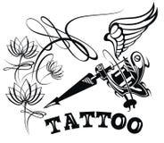 Calibre de logo de studio de tatouage Emblèmes dénommés de vecteur illustration libre de droits