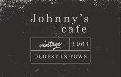Calibre de logotype de café de vintage rétro, simple minimal illustration de vecteur