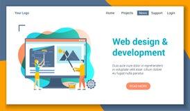 Calibre de lp de développement de Web illustration libre de droits