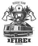 Calibre de lutte contre l'incendie monochrome illustration libre de droits