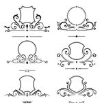 Calibre de luxe de logo Signe d'affaires de bouclier pour l'enseigne Identité de monogramme pour le restaurant, hôtels, boutique, illustration stock
