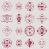 Calibre de luxe de Logotypes d'insignes de rétro conception Image libre de droits