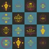 Calibre de luxe de Logotypes d'insignes de rétro conception Photo stock