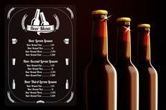 Calibre de menu - bière et alcool, avec l'endroit pour illustration stock