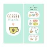 Calibre de menu de café illustration de vecteur
