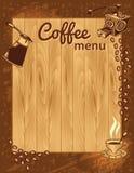 Calibre de menu de café illustration stock