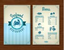 Calibre de menu de fruits de mer illustration de vecteur