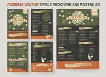 Calibre de menu de restaurant de pizzeria illustration stock