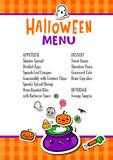 Calibre de menu de Halloween Photos libres de droits