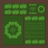 Calibre de menu, illustration de griffonnage de nourriture saine d'artichaut Photographie stock