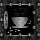 Calibre de menu pour le café Photo stock