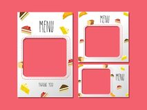 Calibre de menu pour le dessert et la boulangerie douce illustration stock