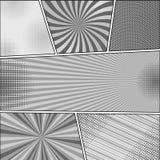 Calibre de monochrome de bande dessinée Photo libre de droits