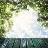 Calibre de Noël pour l'affichage du produit d'hiver photo stock