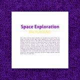 Calibre de papier d'exploration d'espace illustration stock