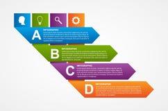 Calibre de papier de conception d'infographics de ruban Image libre de droits