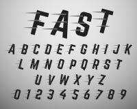 Calibre de police d'alphabet illustration libre de droits