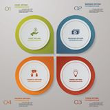 calibre de présentation d'infographics de 4 étapes 4 étapes avec l'espace pour votre text&data d'échantillon Image stock