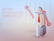 Calibre de présentation de thème d'affaires du vecteur 3d Photos libres de droits