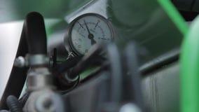 Calibre de pressão, video estoque