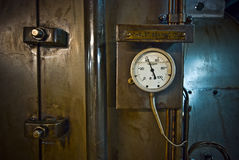 Calibre de pressão, ascendente próximo do instrumento de medição Foto de Stock Royalty Free