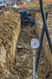 Calibre de pressão da água Fotografia de Stock
