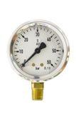 Calibre de pressão na unidade da BARRA, tipo isolado do tubo de bordão no branco com trajeto de grampeamento Fotos de Stock