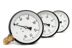 Calibre de pressão no branco Imagens de Stock Royalty Free