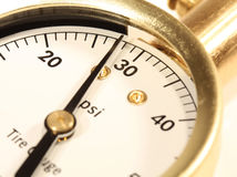 Calibre de pressão do pneu Imagem de Stock