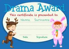 Calibre de récompense d'étudiant de drame illustration libre de droits