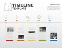 Calibre de rapport de chronologie d'Infographic de vecteur Images libres de droits